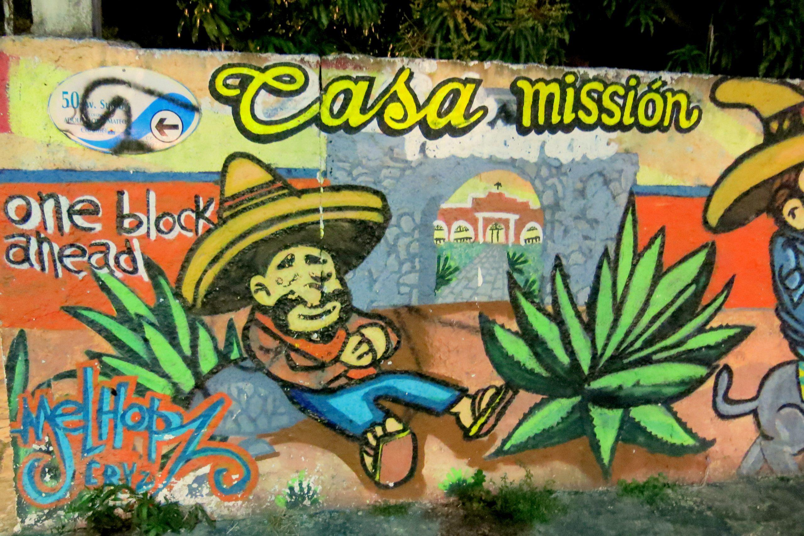 Die Insel Cozumel: Wandmalerei